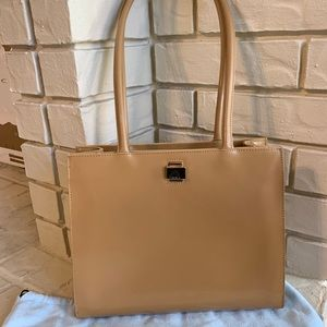 Vintage Camel colored Leather Furla bag